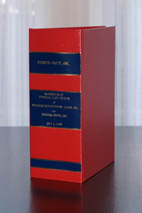 Sample of Robert A. Eick Quality Bookbinding custom book binding project